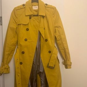 Maison Jules mustard trench coat size S